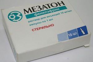 Mesaton - indikacije in navodila za uporabo