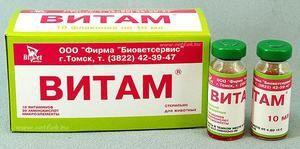 Vitam - kompleks za živali, navodila za uporabo